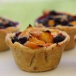 Adorable mini fruit pies.
