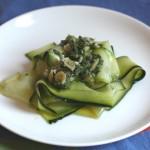 Ribbon zucchini salad.