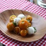 Cherry tomato salad with mozzarella and lemon.