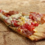 Summer tomato & corn pizza.
