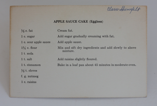 recipe for old-fashioned apple sauce cake
