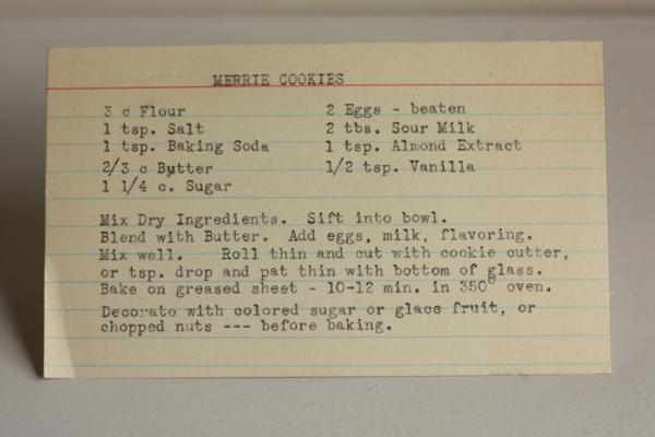 Merrie Cookies Recipe #writes4food
