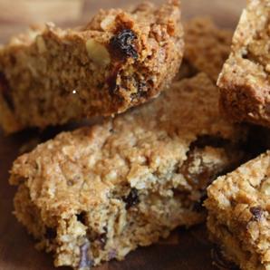 oatmeal raisin cranberry bars #writes4food