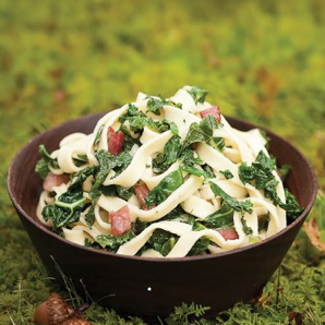 Pasta with Kale and Bacon #writes4food