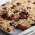 Best chocolate chip bar cookies: a cure for the winter blahs.