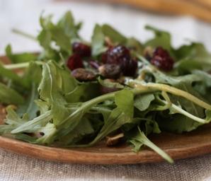 spring arugula salad recipe #writes4food