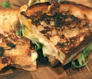 spring vegetable grilled cheese recipe #writes4food