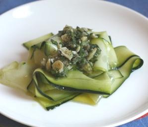 zucchini ribbon salad #writes4food