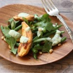 Roasted fingerling potato and green bean salad.