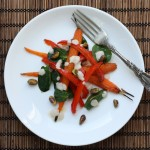 salad recipe with roasted carrots and peppers
