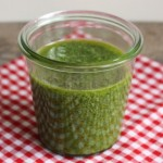 Easy arugula pesto.