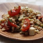 Farro and summer vegetable salad.