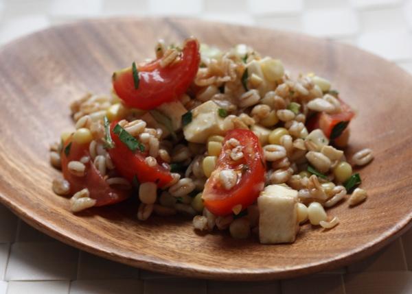 farro salad with summer vegetables | writes4food.com