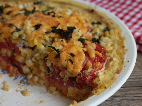 recipe for summer corn and tomato pie