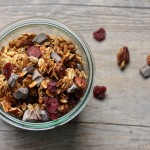 Chocolate berry pecan granola.