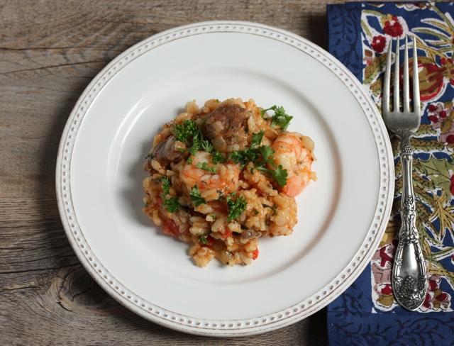 jambalaya-style risotto recipe | writes4food.com