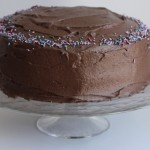 The Clara Project: chocolate birthday cake.