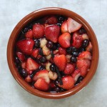 Honeyed summer fruit compote.