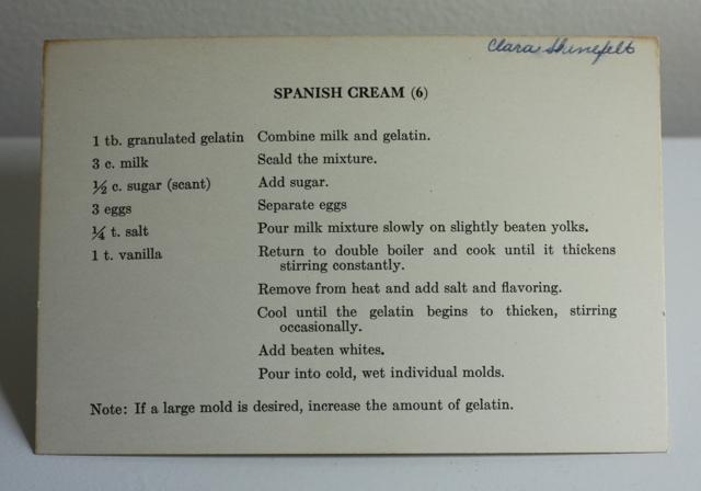 spanish cream recipe