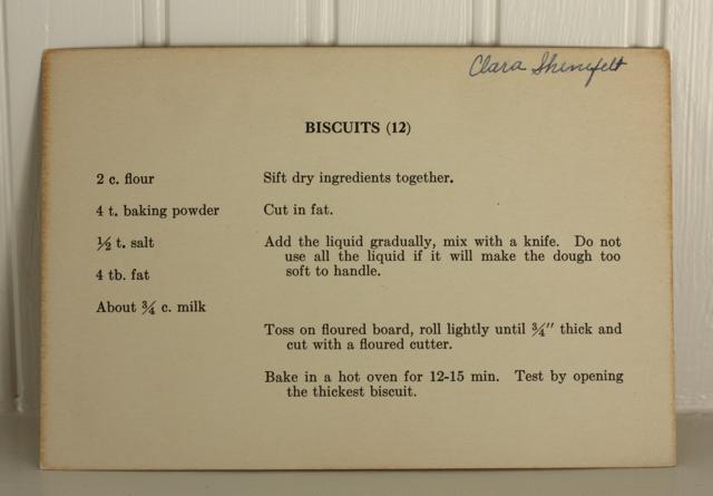 biscuit recipe