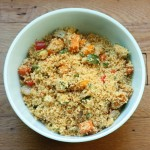 Couscous and roasted vegetables.