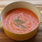 Roasted tomato and fennel soup.