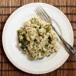 Spring vegetable and herb risotto.