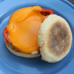 Grilled pepper and egg sandwich.