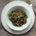 Beautiful lentil salad with spiced vinaigrette.