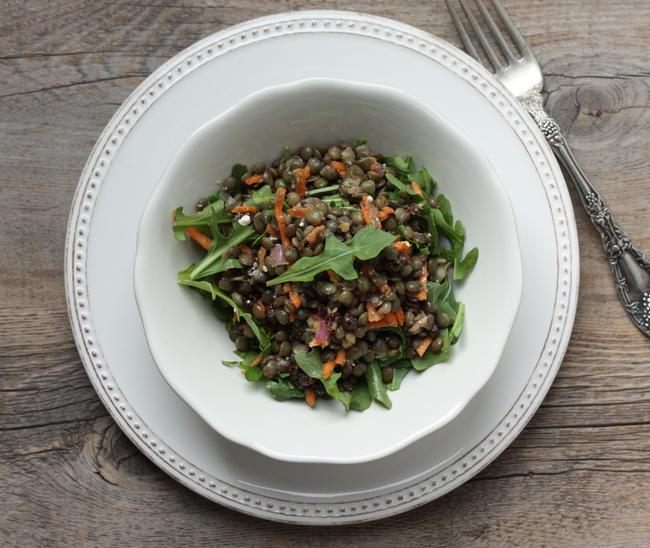 lentil salad with spiced vinaigrette | writes4food.com