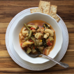 Clean-out-the-larder minestrone.