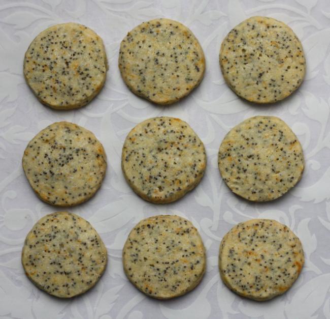 Christmas Cookie Palooza Orange Poppy Seed Butter Cookies